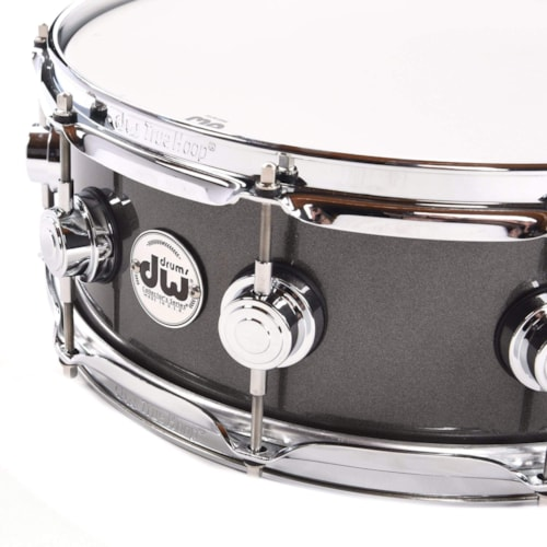 DW 5x14 Collector's Series Maple Snare Drum Gun Metal Metallic Lacquer (333 Shell)