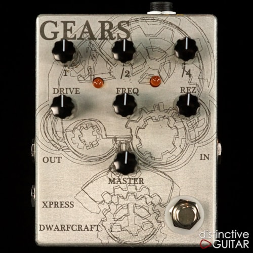 Dwarfcraft Gears Overdrive & Octave Pedal Custom Etched, Brand New
