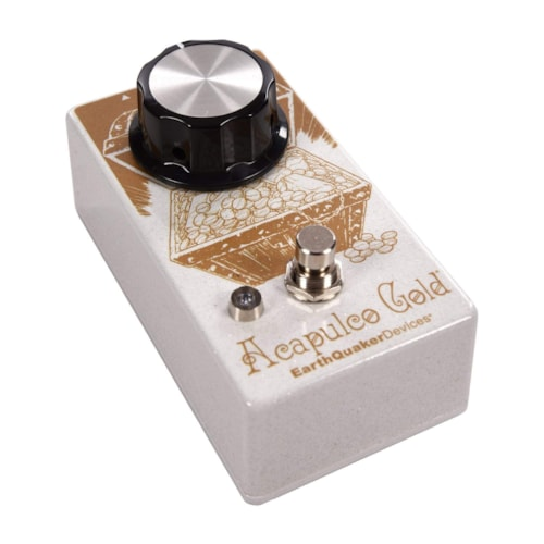 Earthquaker Devices Acapulco Gold v2 Power Amp Distortion White Sparkle & Gold