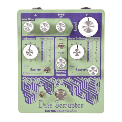 Earthquaker Devices Data Corrupter Modulated Monophonic Harmonizing PLL Pastel Green & Purple