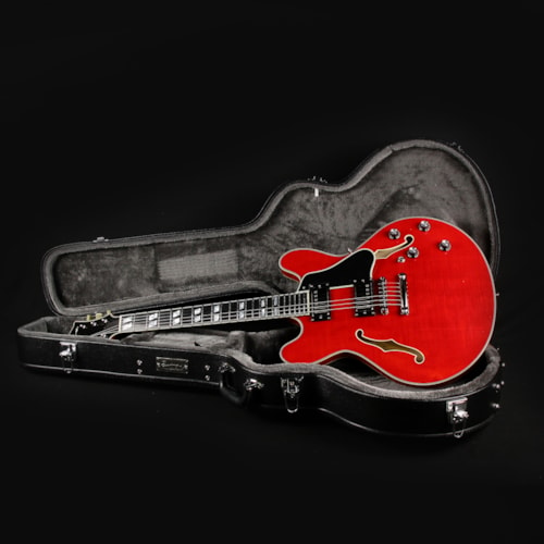 Eastman T486-RD Transparent Red Thinline Semi-Hollowbody Guitar (P2001975)
