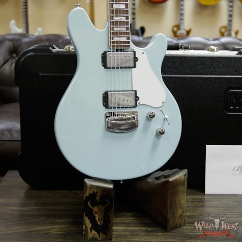 2019 Ernie Ball Musicman Ernie Ball Music Man BFR Limited Edition #54 of 68 Valentine Rosewood Board Baby Blue Signed by James Valentine Baby Blue