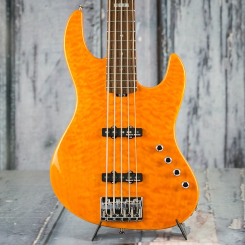 Used ESP E-II J5 5-String Bass, Quilt Amber