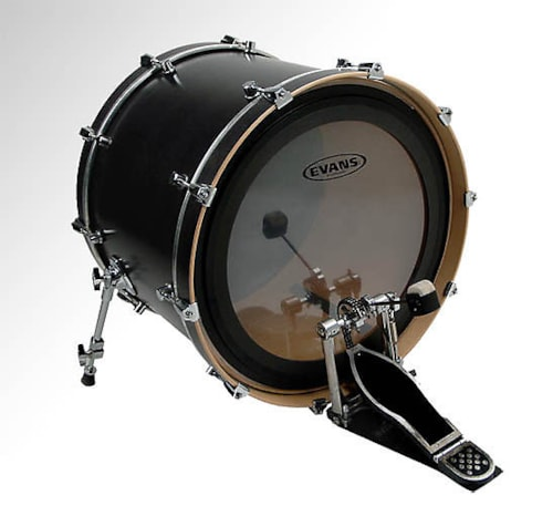 """Evans 22"""" EMAD Clear Bass Drumhead"""