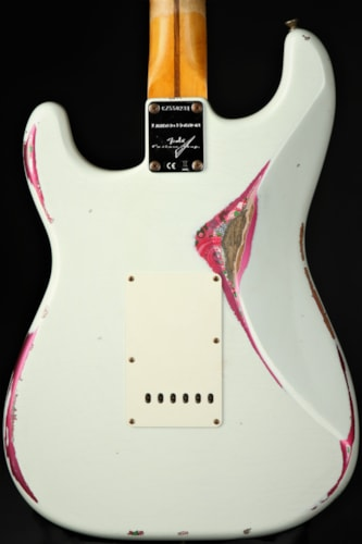 Fender  Custom Shop LTD Mischief Maker Heavy Relic - Olympic White over Pink Paisley/2020
