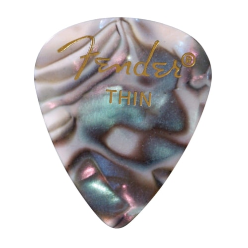 Fender 351 Pick Pack Abalone Thin 3 Pack (36) Bundle