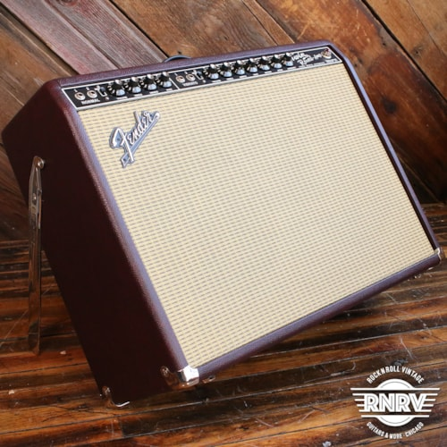 "Fender '65 Twin Reverb Neo 2x12"" 85-watt Tube Combo Amp Wine Red - Limited Edition"