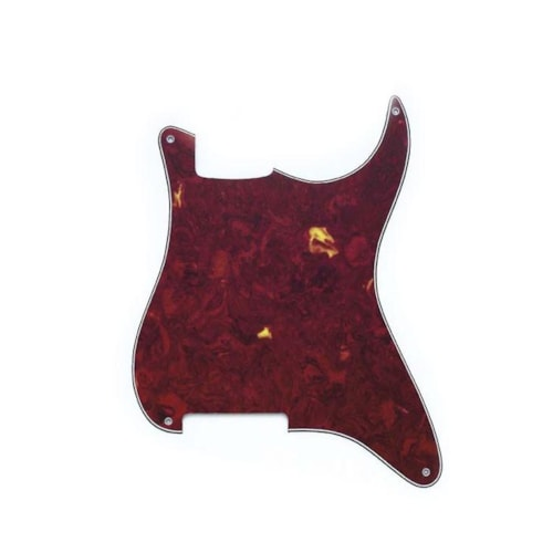 Allparts Stratocaster Pickguard Red Tortoise Shell (Outline Only w/o Holes)