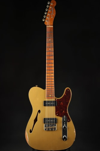 Fender Custom Shop Limited Edition Dual P90 Thinline Tele Relic - HLE Gold Top/2021 Fender