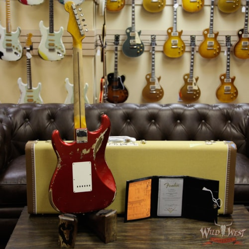 2019 Fender Custom Shop 1957 Stratocaster Heavy Relic Maple Neck Candy Apple Red Candy Apple Red