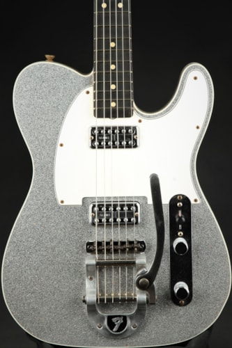 Fender Custom Shop Bigsby Telecaster Journeyman - Silver Sparkle