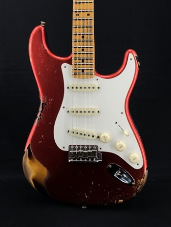 Fender Custom Shop Limited Edition W20 56 Heavy Relic Strat in Candy Apple Red over Sunburst