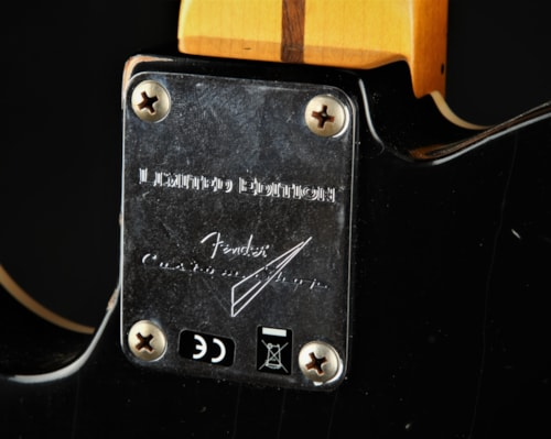 Fender Custom Shop Limited Edition Double Esquire Thinline Custom Relic - Aged Blue Flower
