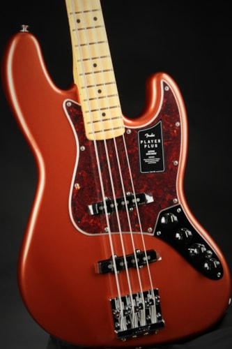 Fender Fender Player Plus Active Jazz Bass®, Maple Fingerboard - Aged Candy Apple Red