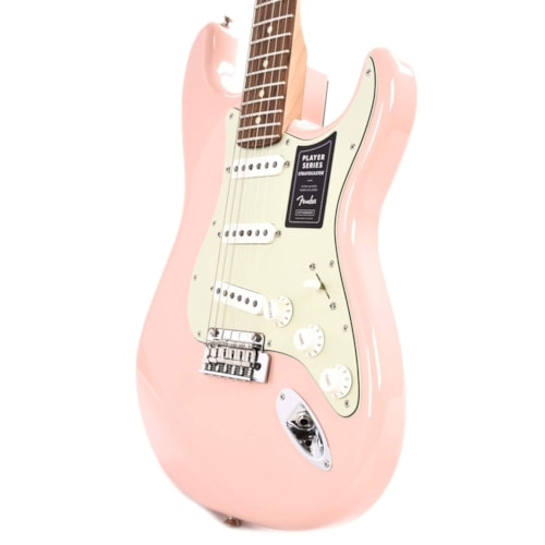 Fender Player Stratocaster Shell Pink w/3-Ply Mint Pickguard