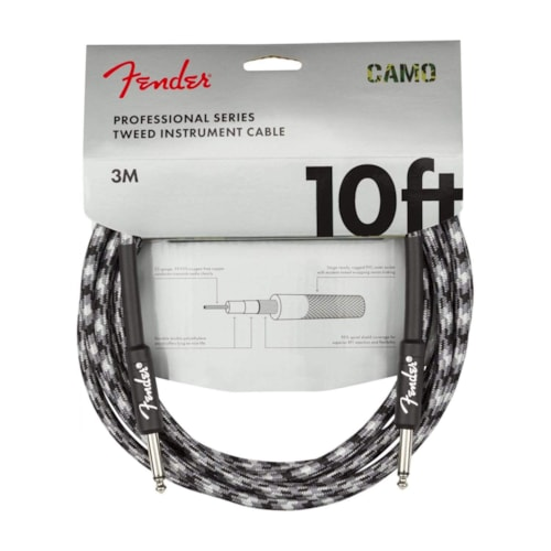 Fender Professional 10' Instrument Cable Winter Camo