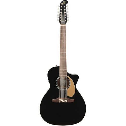 Fender Villager 12-String Acoustic Electric Guitar Black