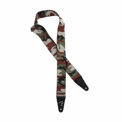"Fender Weighless 2"" Strap Woodland Camo"
