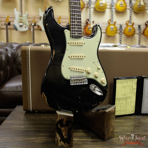 2019 Fender Custom Shop 1961 Stratocaster Relic AAA Rosewood Fingerboard Black Black
