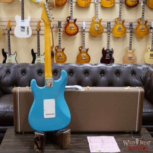 2020 Fender Custom Shop 1963 Stratocaster Relic AAA Rosewood Board Taos Turquoise