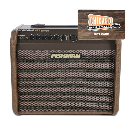 Fishman Loudbox Mini Charge 60 Watt Rechargeable Battery-Powered Acoustic Amp and $50 CME Gift Card Bundle