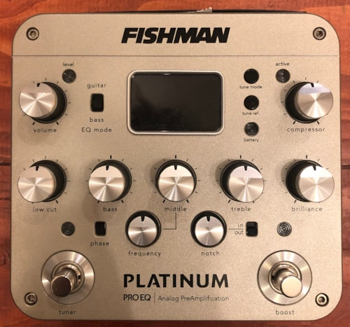Fishman Platinum Pro EQ / DI Analog Preamp Pedal
