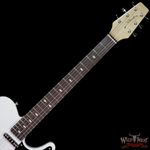 2019 Fred Stuart Wild West 20th Anniversary Diamond Back Snake Head Rosewood Board Olympic White # 08 Olympic White