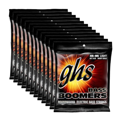GHS 3135 Bass Boomers 45-95 Short Scale 12 Pack Bundle