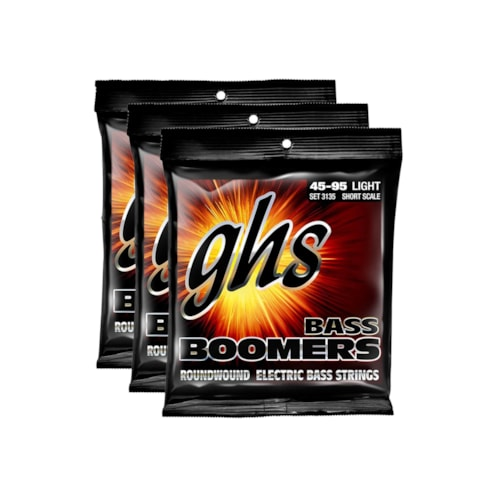 GHS 3135 Bass Boomers 45-95 Short Scale 3 Pack Bundle
