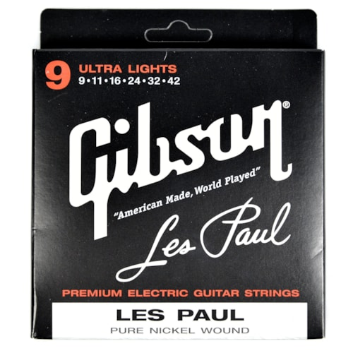 Gibson Gear Les Paul Electric Guitar Strings 9-42