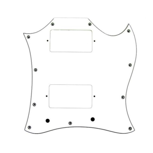 Allparts Large 3-ply White Pickguard for Gibson SG