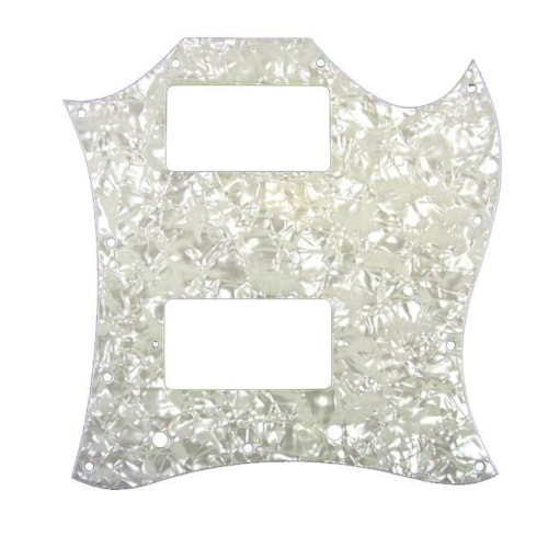 Allparts Pickguard for Gibson® SG® Large White Pearloid