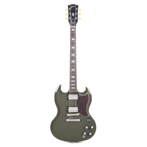 Gibson USA SG Standard Olive Drab w/Tortoise Pickguard & T-Type Pickups (CME Exclusive) Demo (Serial #223000016)