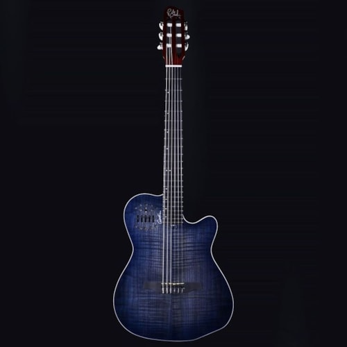 Godin ACS Denim Blue Classical Synth Access Acoustic Electric Guitar w/ Factory Warranty (19132154)