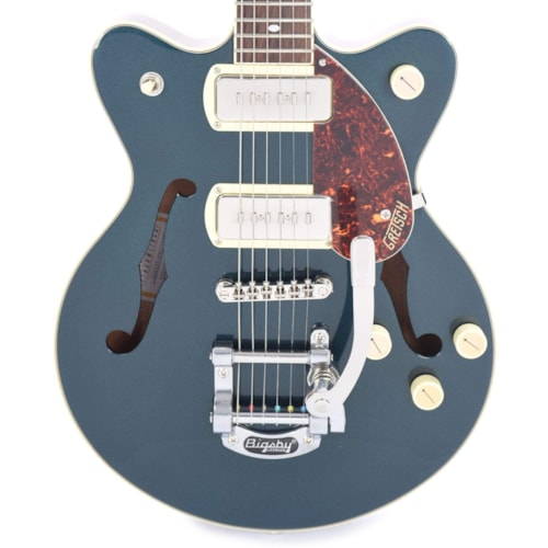 Gretsch G2655T-P90 Streamliner Center Block Jr. Double-Cut P90 Two-Tone Midnight Sapphire/Vintage Mahogany Stain w/Bigsby
