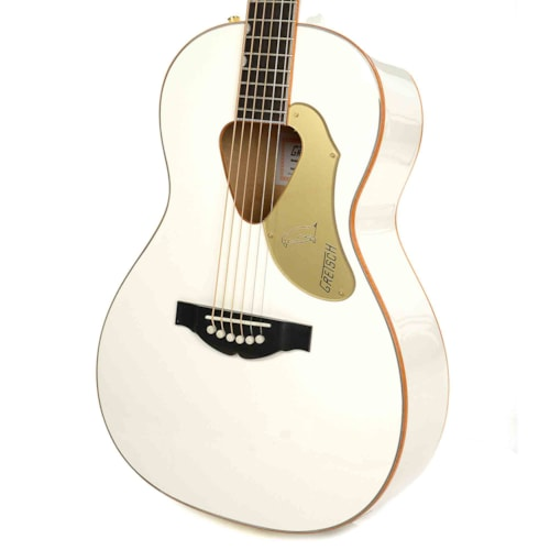Gretsch G5021WPE Penguin Parlor Acoustic Electric Jumbo Non-Cutaway White w/Fishman Pickup System