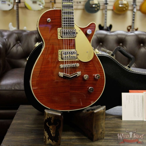Gretsch G6228FM Players Edition Jet V-Stoptail Flame Maple Ebony Fingerboard Bourbon Stain Bourbon Stain