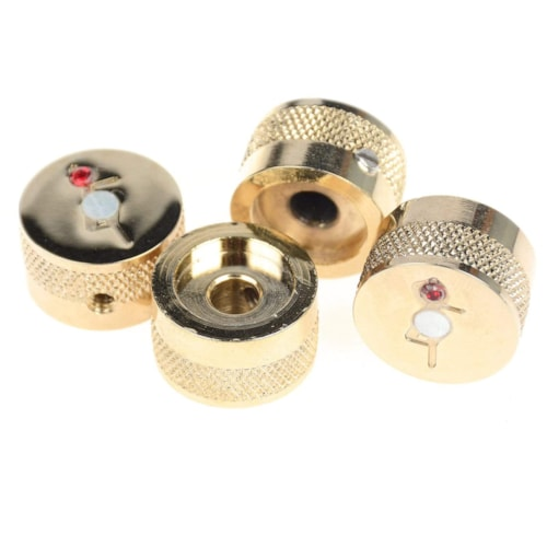 Gretsch Knobs Gold w/Red Jewel (Set of 4)