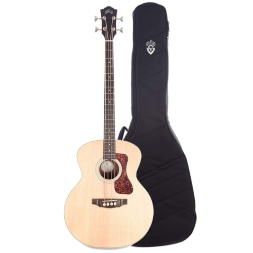 Guild Westerly B-240E Acoustic Electric Bass and Deluxe Acoustic Guitar Gig Bag Bundle