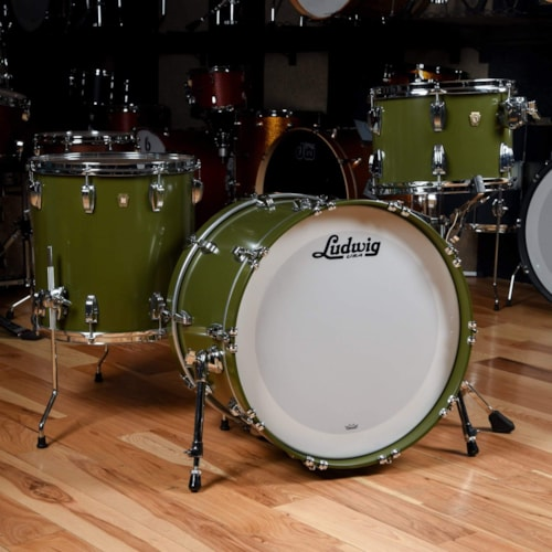 Ludwig Classic Maple 13/16/22 3pc. Drum Kit Heritage Green