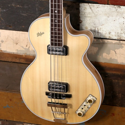 Hofner Gold Label 5002 Club Bass Satin Natural Finish With Kernbuche Back