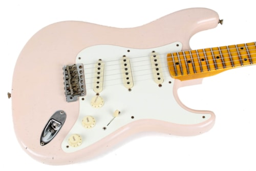 Fender CS NAMM Limited '57 Journeyman Relic Stratocaster Aged Shell Pink