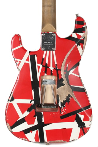 "EVH Striped Series Frankenstein ""Frankie"" Red and White"