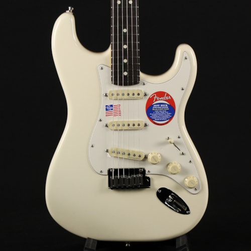 Fender Artist Series Jeff Beck Stratocaster Rosewood Fingerboard Olympic White (US21006512)