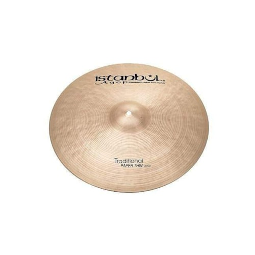 """Istanbul Agop 17"""" Traditional Paper Thin Crash Cymbal"""