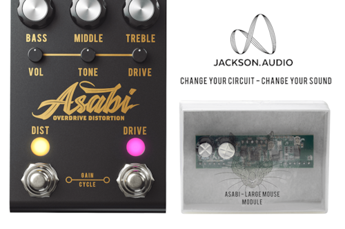 """Jackson Audio ASABI Overdrive / Distortion and Large Mouse combo """"Authorized Dealer"""""""