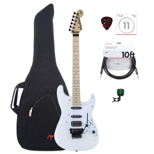 Jackson X Series Signature Adrian Smith SDXM MN Snow White w/Gig Bag, Tuner, (1) Cable, Picks and Strings Bundle