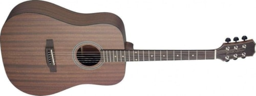 James Neligan Acoustic dreadnought guitar w/ solid mahogany top, Dovern series