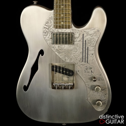 James Trussart Deluxe SteelCaster Antique Silver Roses