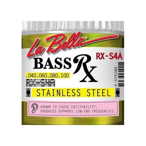 La Bella RX-S4A RX Stainless Steel Round Wound Custom Light 40-100